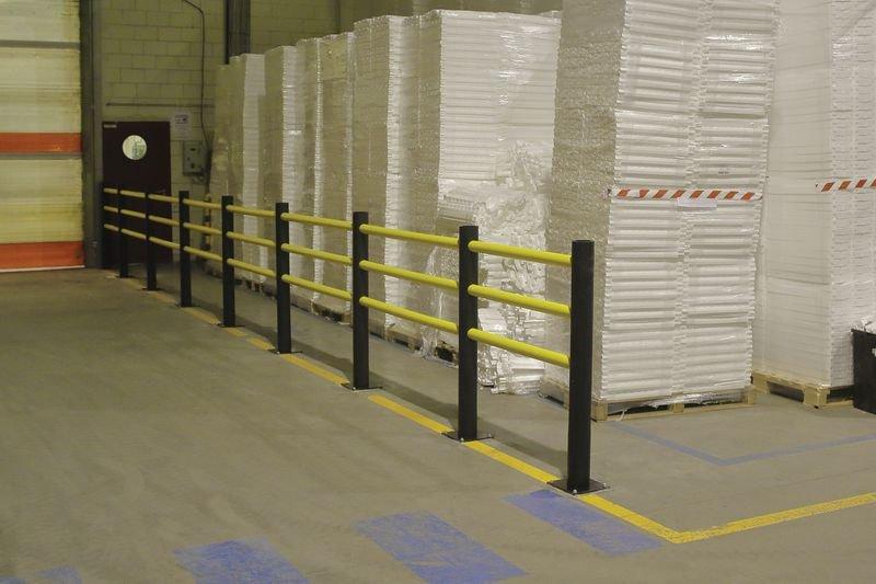Barrière piétonne modulaire Certification TÜV - Equipement entrepôt