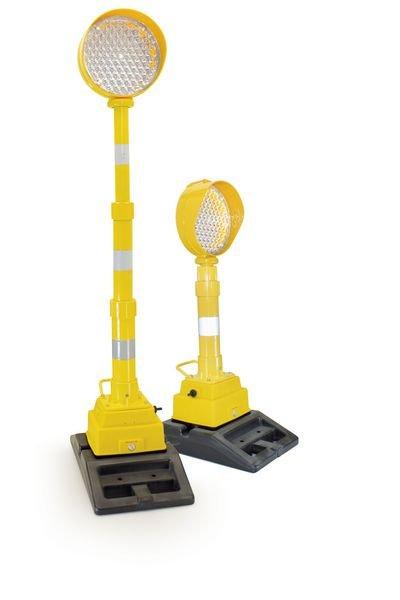 Lampe de chantier simple ou téléscopique avec feux LED