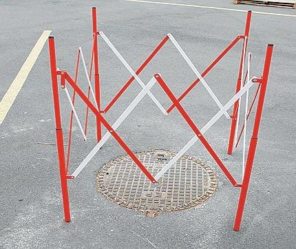 Barrières de chantier extensibles Carrée ou rectangle