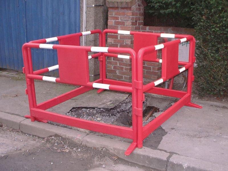 Barrière plastique de chantier