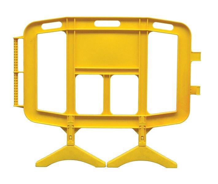 Barrières en résine plastique avec pieds mobiles