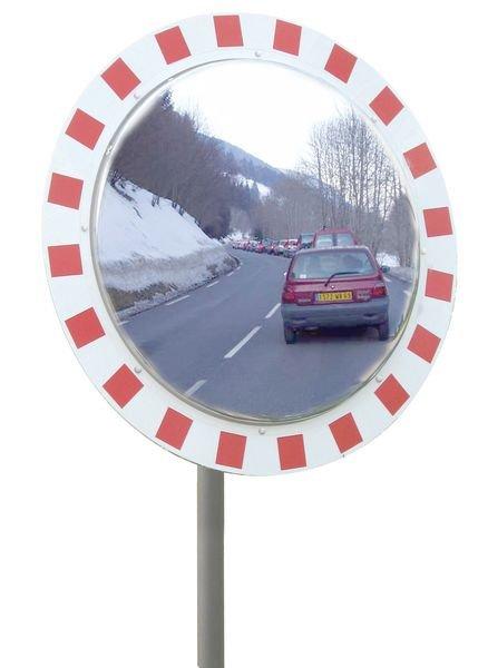 Miroir Industrie antigivre antibuée rouge et blanc