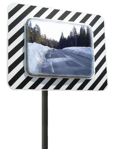 Miroir routier antigivre antibuée blanc et noir