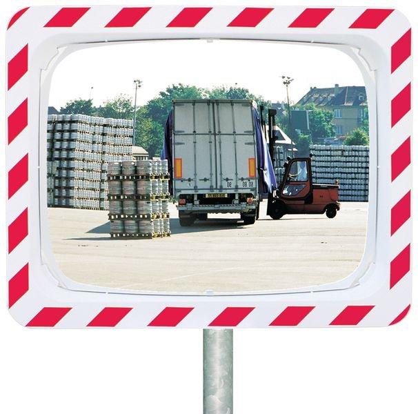 Miroir de sécurité Rouge/Blanc Industrie