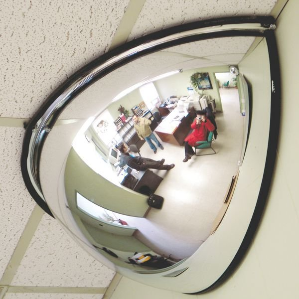 Miroir 1/4 Sphère vision 180°