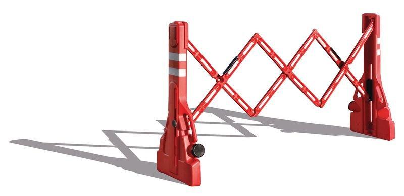 Barrière rouge et blanche EXTENSO - Barrières de chantier