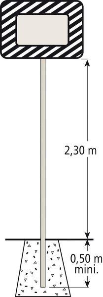 Poteau en acier galvanisé - Signals