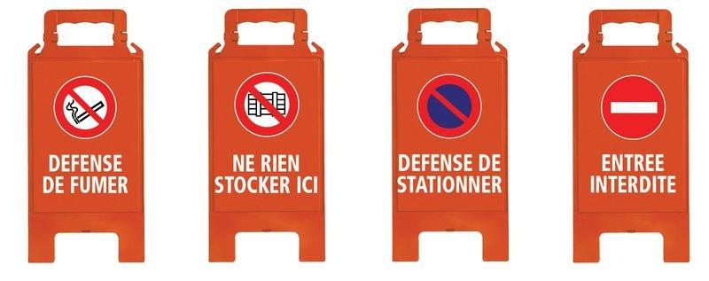 Chevalet de signalisation vierge H 600 mm