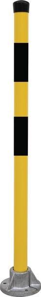 Poteau sur platine Jaune/Noir H 1000 x Ø 50 mm