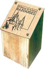 Borne d'information carrée 195 x 195 mm compact gravé