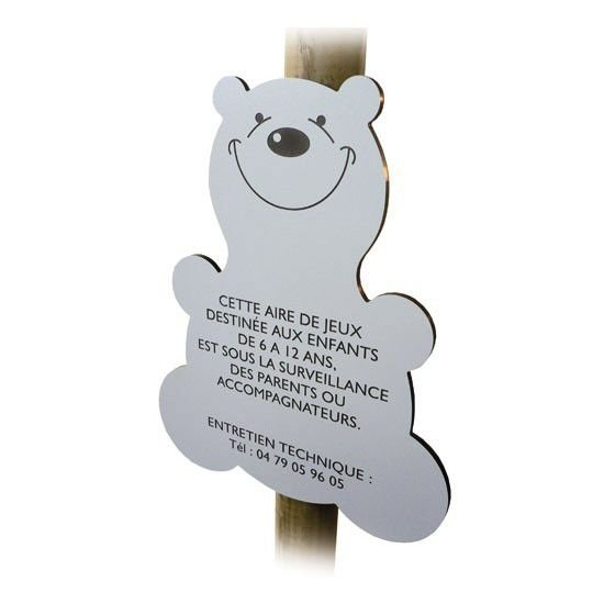 Panneau Aire de jeu forme animal 600 x 480 x Ep. 10 mm