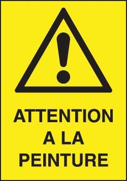 Balise éco avec symbole et texte Attention peinture - Signals