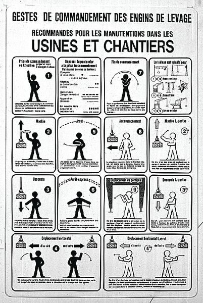 Panneau PVC Consignes pour engins de levage