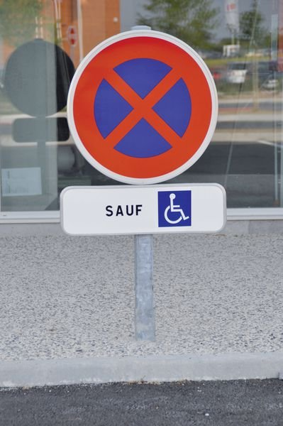 Kit de stationnement places personnes handicapées