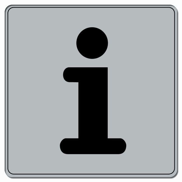 Symbole Plexi fond gris Informations