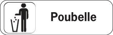 Plaque de porte en Polypropylène Poubelle