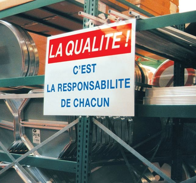 Panneau PVC Qualité Notre standard : la perfection - Signals