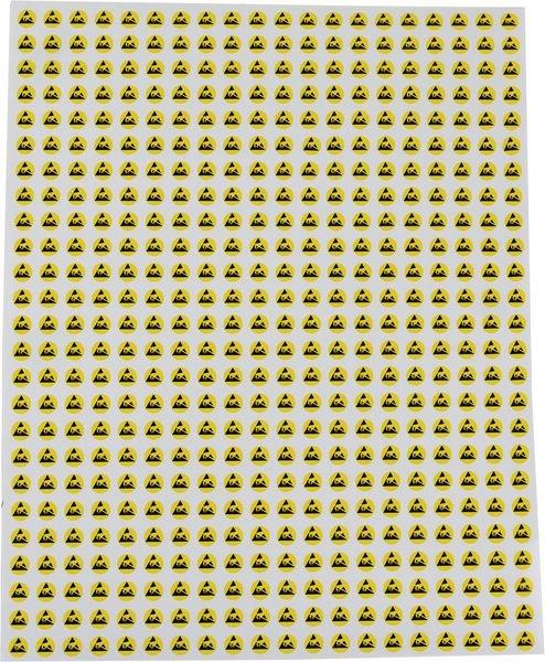Planche 500 étiquettes Ø 8 mm Risques électrostatiques - Signals