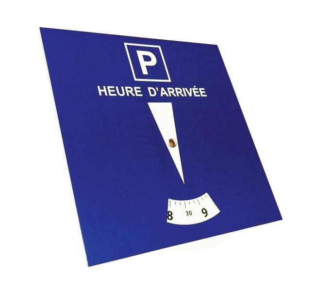 Disque de stationnement pour zone bleue