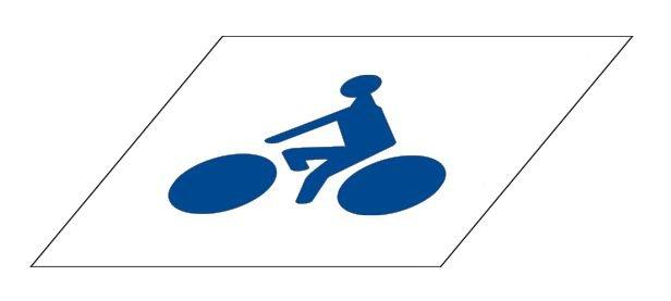 Kit Panneau et Pochoir Piste cyclable - Signals