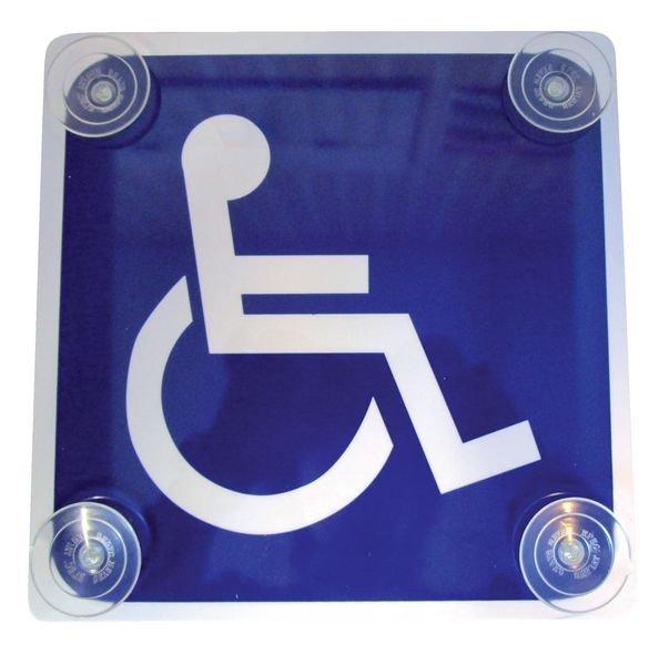Panneau PVC + ventouses Transport d'handicapés