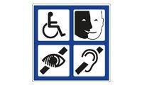 Panneau Aluminium symbole 4 Handicaps