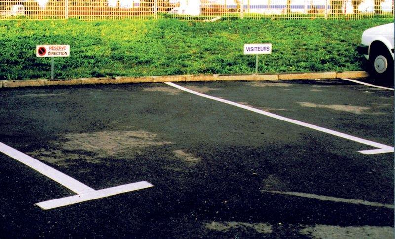 Kit Panneau Parking Réservé + poteau