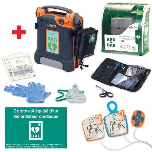 Pack complet défibrillateur automatique avec armoire