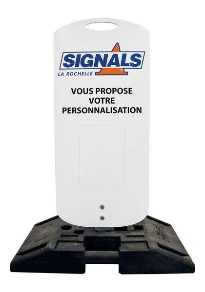 Kit temporaire complet Panneau + socle mobile