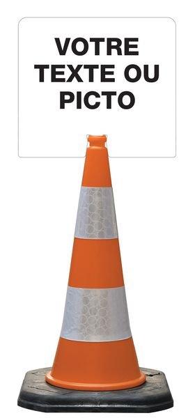 Support pour cône Alu/PVC/Alu 1 face personnalisable - Signals