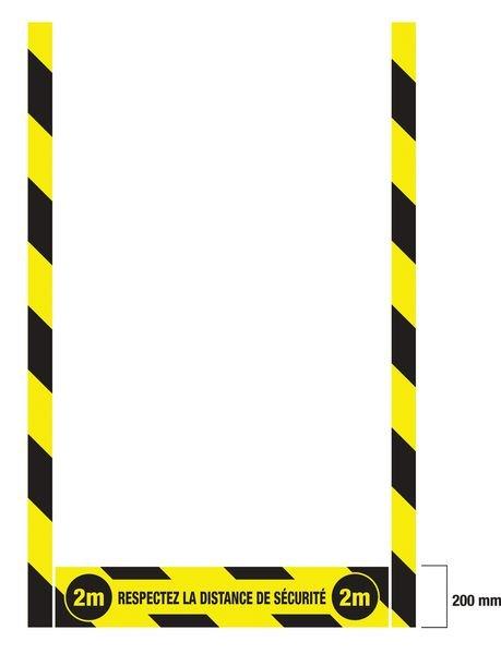Kit marquage au sol Respectez la distance de sécurité