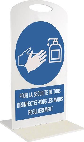 Support d'affichage sur pied en PVC