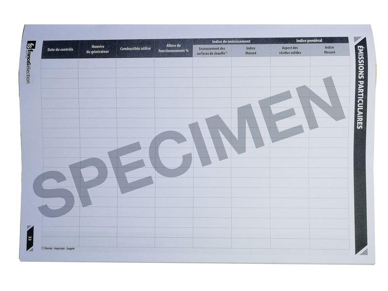 Registre spécial chaufferie A4 64 pages - Signals