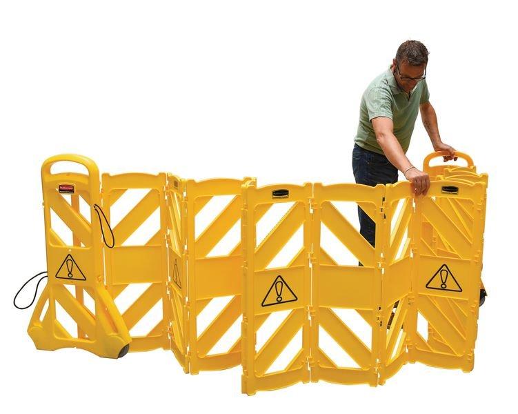 Barrière mobile portable 4 m - Balisage de sécurité
