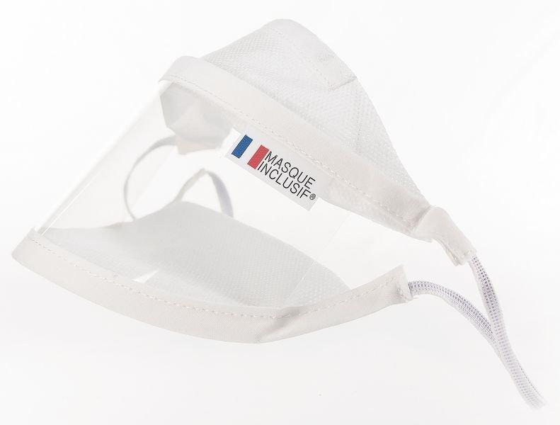 Masque avec fenêtre transparente fabrication française - Maintenance des sites