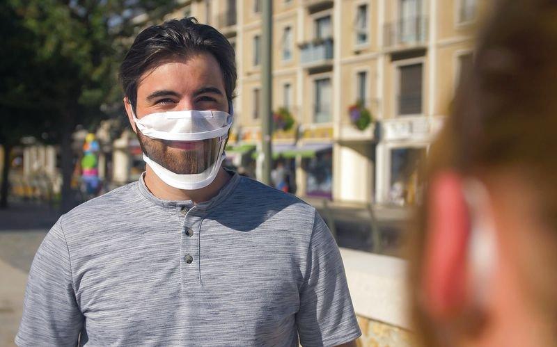 Masque avec fenêtre transparente fabrication française - Signals