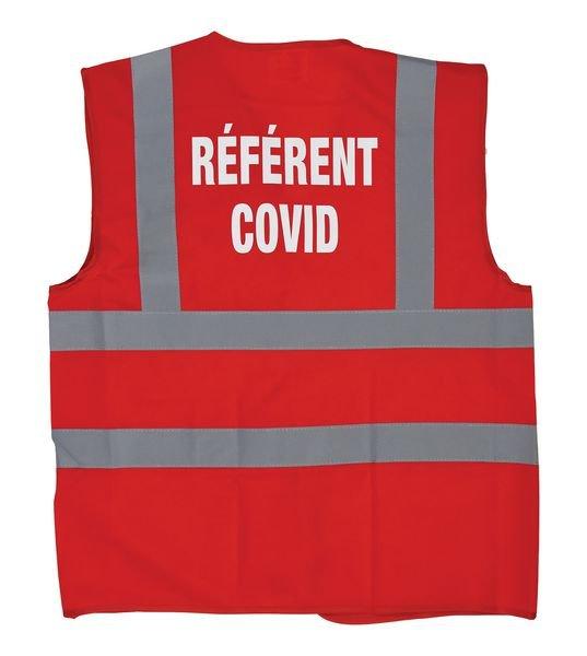 Gilet de sécurité marquage Référent COVID