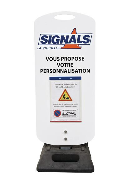 Kit temporaire Panneau + socle mobile + pochette - Signals