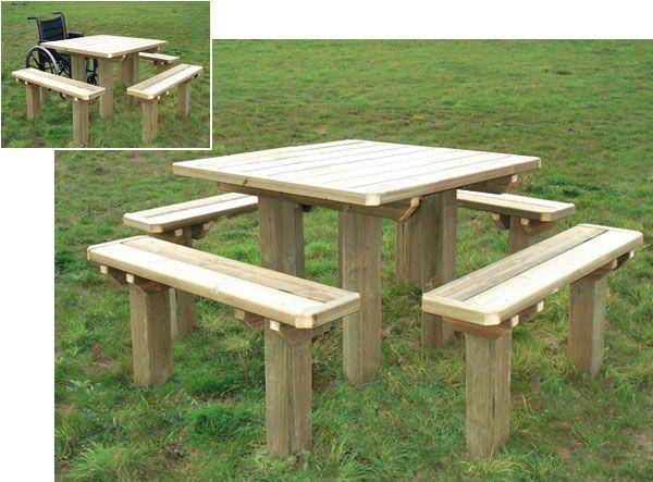 Table de pique-nique Accès seule ou avec banc