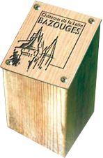 Borne d'information carrée 120 x 120 mm compact gravé