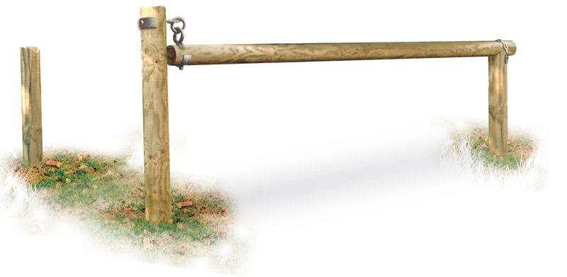 Barrière bois Pivotante