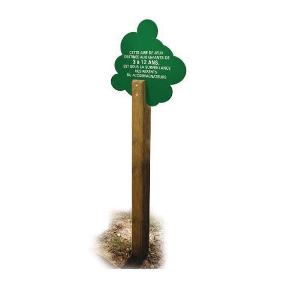 Panneau Aire de Jeu forme arbre