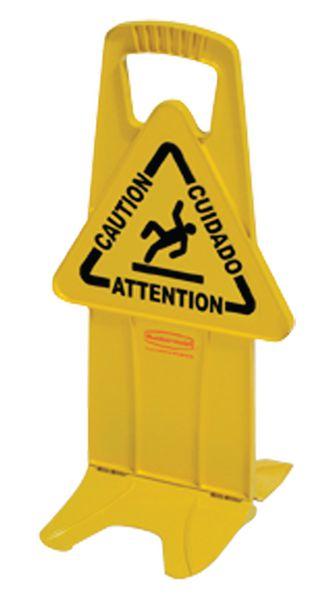Panneau d'avertissement sur socle