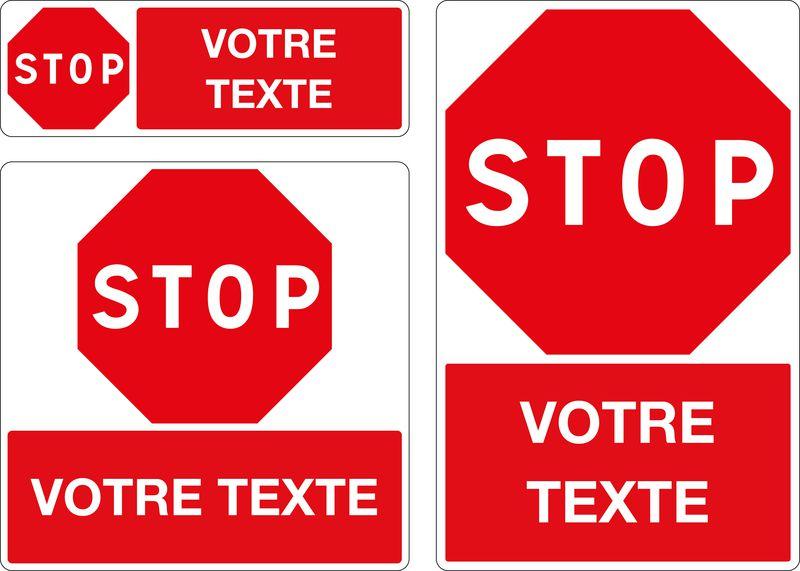 Panneau personnalisé Stop
