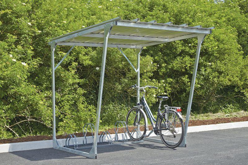 Abri vélos en acier