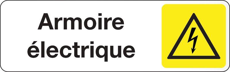 Plaque rectangulaire couleur Armoire Electrique (photo)