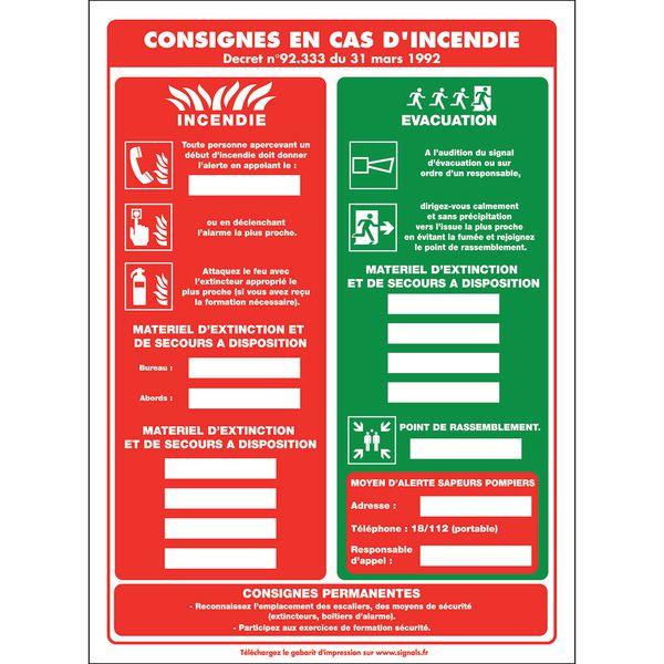 Affichage par insertion pour informations de sécurité