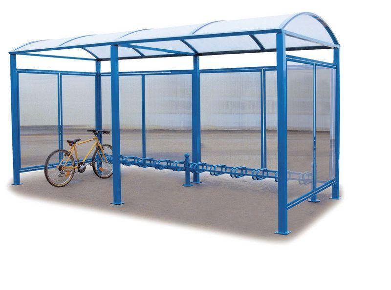 Abri vélos voûte sans bardage 6 places (photo)