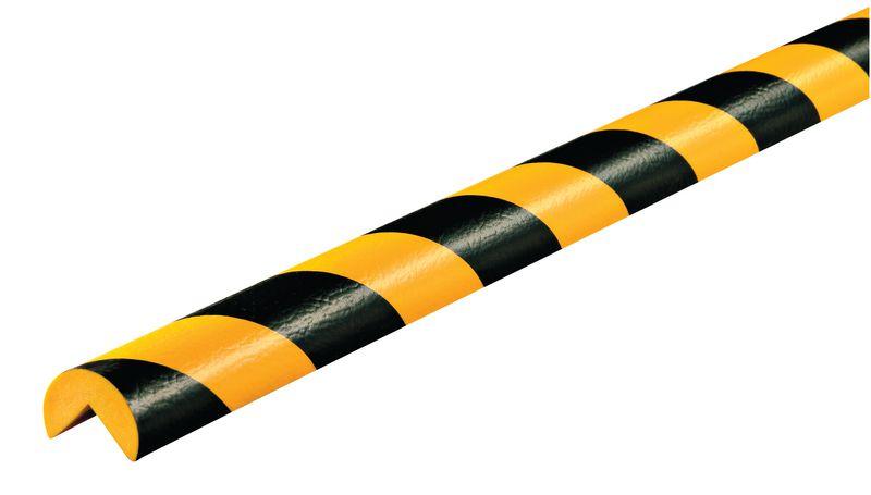 Amortisseur 1 ou 5 m profil A 3/4 rond Jaune/Noir