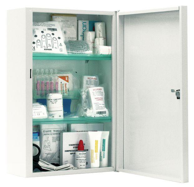 Armoire à pharmacie métal blanc 10 personnes